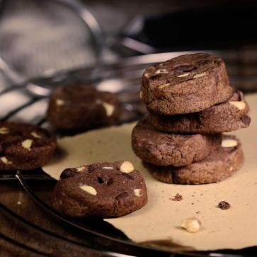 Triple-Schoko Kekse
