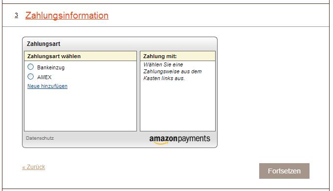 Amazon Zahlungsweise
