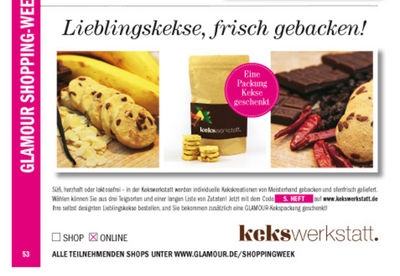 Kekswerkstatt in der GLAMOUR Shopping-Week